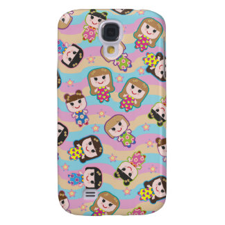 Cute Dolls Vector Pattern Galaxy S4 Case
