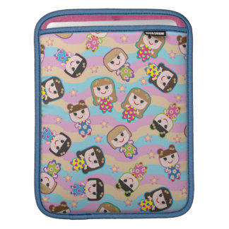 Cute Dolls Vector Pattern iPad Sleeve