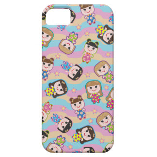 Cute Dolls Vector Pattern iPhone 5 Case