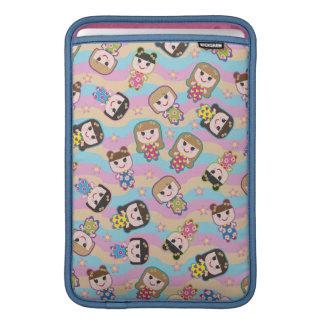 Cute Dolls Vector Pattern MacBook Air Sleeve