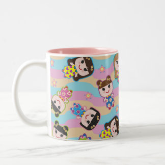 Cute Dolls Vector Pattern Mug