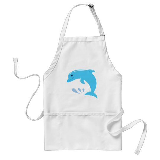 Cute Dolphin Adult Apron
