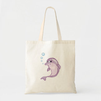 Cute Dolphin Tote Bags