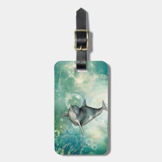 Cute dolphin bag tag