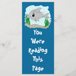 Cute Dolphin Bookmark Template