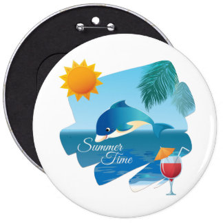 Cute dolphin pinback buttons