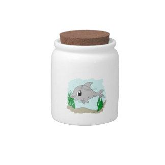 Cute Dolphin Candy Jar