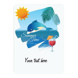 Cute dolphin card