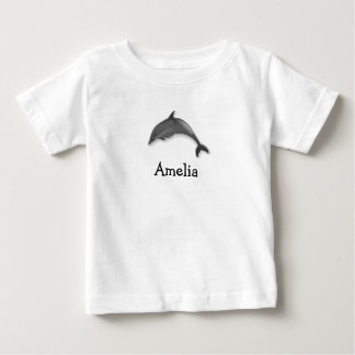 Cute dolphin clothes personalized with childs name baby T-Shirt