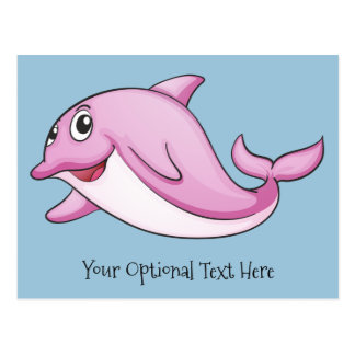 Cute Dolphin custom postcard