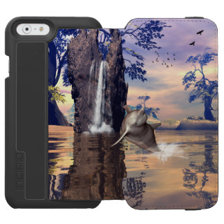 Cute dolphin iPhone 6/6s wallet case