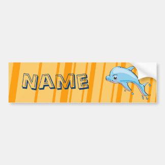 Cute Dolphin Kawaii bumper sticker Car Bumper Sticker