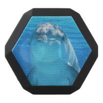 Cute Dolphin Marine Animal in Blue Sea Black Bluetooth Speaker
