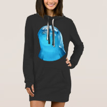 Cute Dolphin Marine Animal in Blue Sea Dress