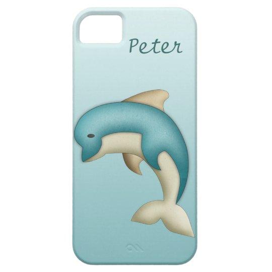 Cute Dolphin Monogram Case-Mate Case