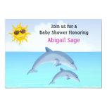 Cute Dolphin Ocean Baby Shower Invite for Girls