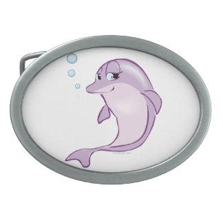 Cute Dolphin Oval Belt Buckle