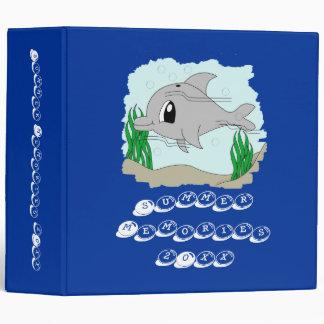 Cute Dolphin Photo Album Template Vinyl Binders