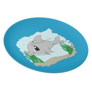 Cute Dolphin Plate