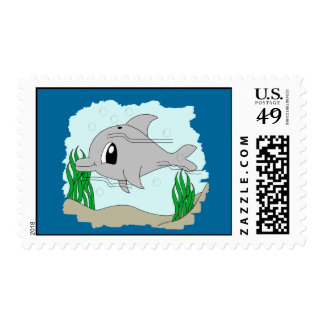Cute Dolphin Postage Stamp
