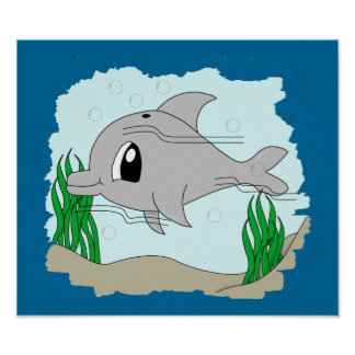 Cute Dolphin Poster