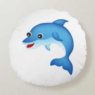 Cute dolphin round pillow