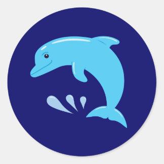 Cute Dolphin Classic Round Sticker