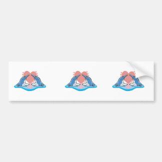 cute dolphins in love bumper sticker
