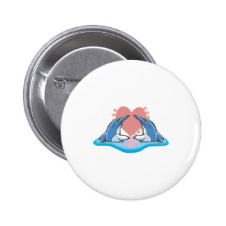 cute dolphins in love pinback button