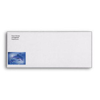Cute dolphins playing envelopes