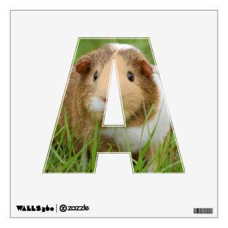 Cute Domestic Guinea Pig Wall Sticker
