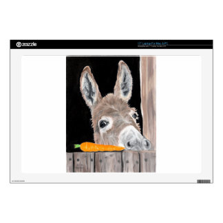 """Cute Donkey and a Carrot 17"""" Laptop Skins"""