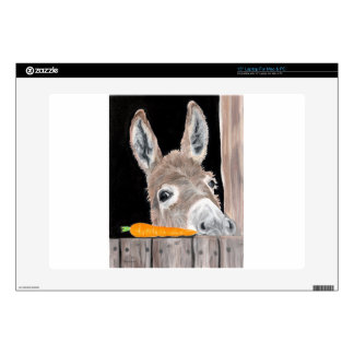 Cute Donkey and a Carrot Decals For Laptops