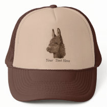 Cute donkey original lifelike drawing art trucker hat