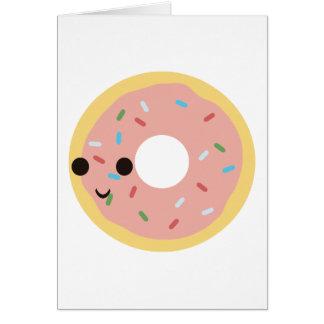 Cute Donut Greeting Card