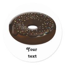 Cute Donut Classic Round Sticker