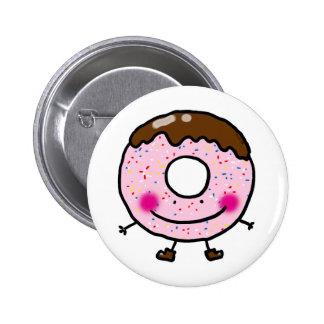 Cute donut doughnut pinback buttons