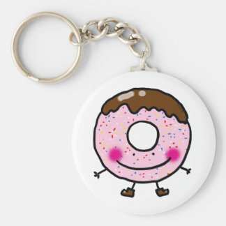 Cute donut doughnut key chains