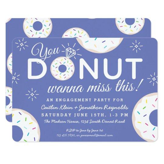 Cute Donut Engagement Party Invitations Zazzle Com