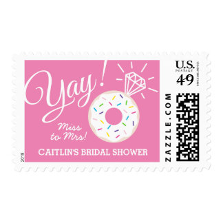 Cute Donut Personalized Bridal Shower Stamps