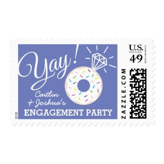 Cute Donut Personalized Engagement Party Stamps