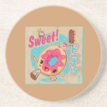 cute donut poster drink coaster