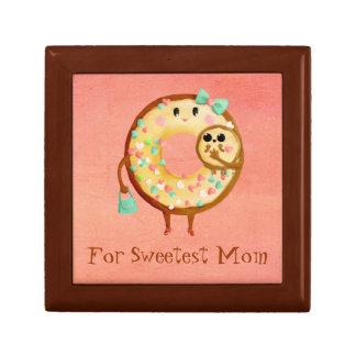 Cute Donut s Mother Love Keepsake Boxes