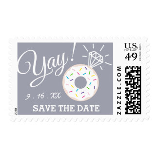 Cute Donut Save the Date Postage Stamps
