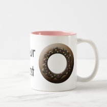 Cute Donut Two-Tone Coffee Mug