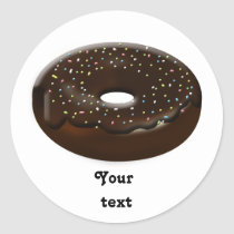 cute donuts gifts classic round sticker