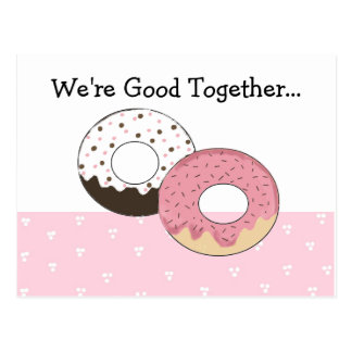 Cute Donuts With Message... Postcard