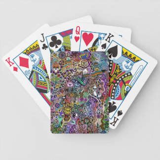cute Doodle Bicycle Playing Cards