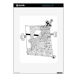 Cute Doodle Creature Decal For The iPad
