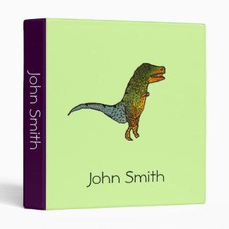 Cute doodle kids dinosaur cartoon student folder binder